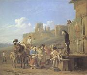A Party of Charlatans in an Italian Landscape (mk05) Karel Dujardin