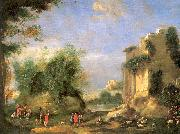Landscape with Ruins and Figures Napoletano, Filippo