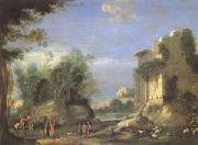 Landscape with Ruins and Figures (mk05) Napoletano, Filippo