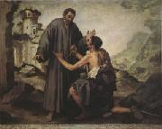 Brother Juniper and the Beggar (mk05) Bartolome Esteban Murillo