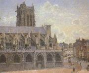The Church of St.Jacques at Dieppe (san08) Camille Pissaro