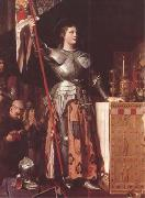 Joan of Arc at the Coronation of Charles VII in Reims Cathedral (mk09) Jean Auguste Dominique Ingres