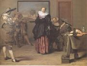 The Dancing Lesson (mk05) Lambert  Jacobsz