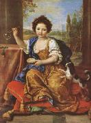 Girl Bloing Soap Bubbles (mk08) Pierre Mignard
