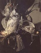 Still Life of Dead Birds and Hunting Weapons (mk14) Aelst, Willem van