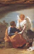 detail  Landscape with Saint Matthew and the Angel (mk10) Nicolas Poussin