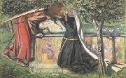 Arthur's Tomb: The Last Meeting of Launcelort and Guinevere (mk28) Dante Gabriel Rossetti