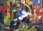 Painting with Cattle (mk34) Franz Marc