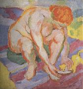 Nude with  Cat (mk34) Franz Marc