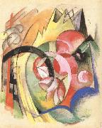 Colorful Flowers (mk34) Franz Marc
