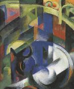 Details of Painting with Cattle (mk34) Franz Marc