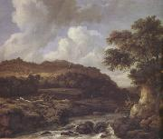 A Mountainous Wooded Landscape with a Torrent (nn03) Jacob van Ruisdael