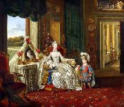 Queen Charlotte at her Dressing Table (mk25) Johann Zoffany