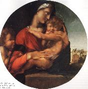 Madonna and Child with the Young St.Fohn BERRUGUETE, Alonso