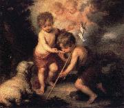 Infant Christ Offering a Drink of Water to St.Fohn Bartolome Esteban Murillo