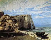 The Cliff at Etretat after the Storm Courbet, Gustave