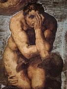 Damned soul descending into Hell Michelangelo Buonarroti