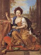 Girl Blowing Soap Bubbles Pierre Mignard