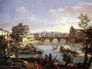 The Castel Sant'Angelo from the South WITTEL, Caspar Andriaans van