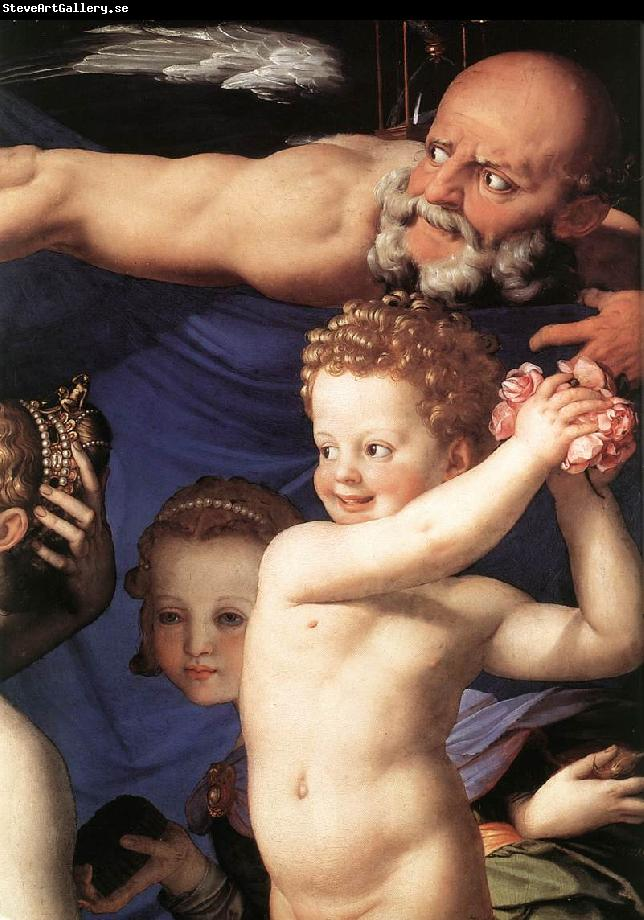 BRONZINO, Agnolo Venus, Cupide and the Time (detail) fdg