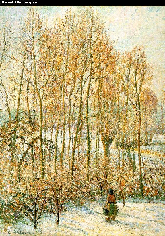 Camille Pissaro Morning Sunlight on the Snow, Eragny sur Epte