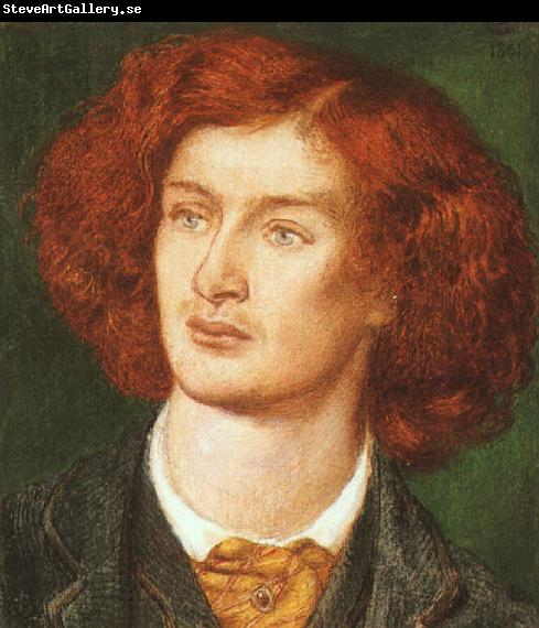 Dante Gabriel Rossetti Portrait of Algernon Swinburne