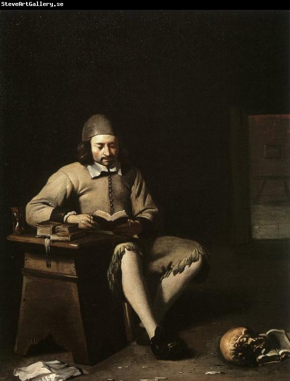 Michael Sweerts Penitent Reading in a Room