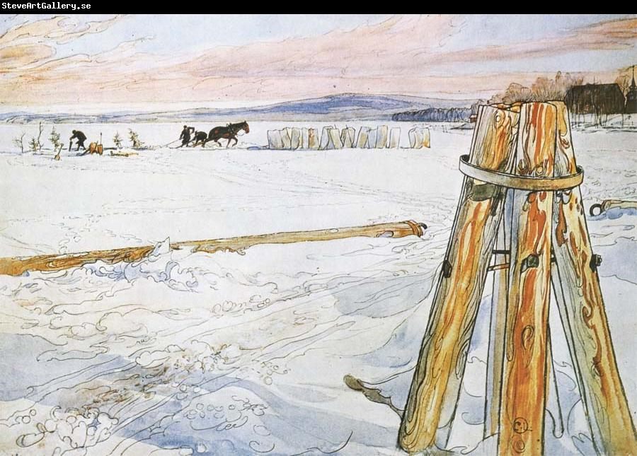Carl Larsson Harverstion Ice