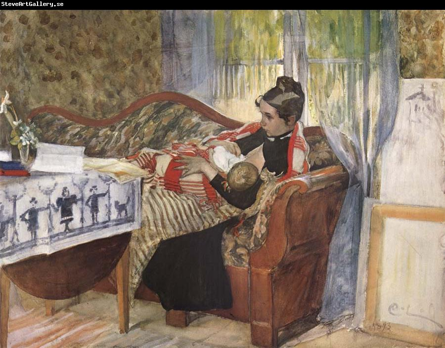 Carl Larsson A Mother-s Thoughts