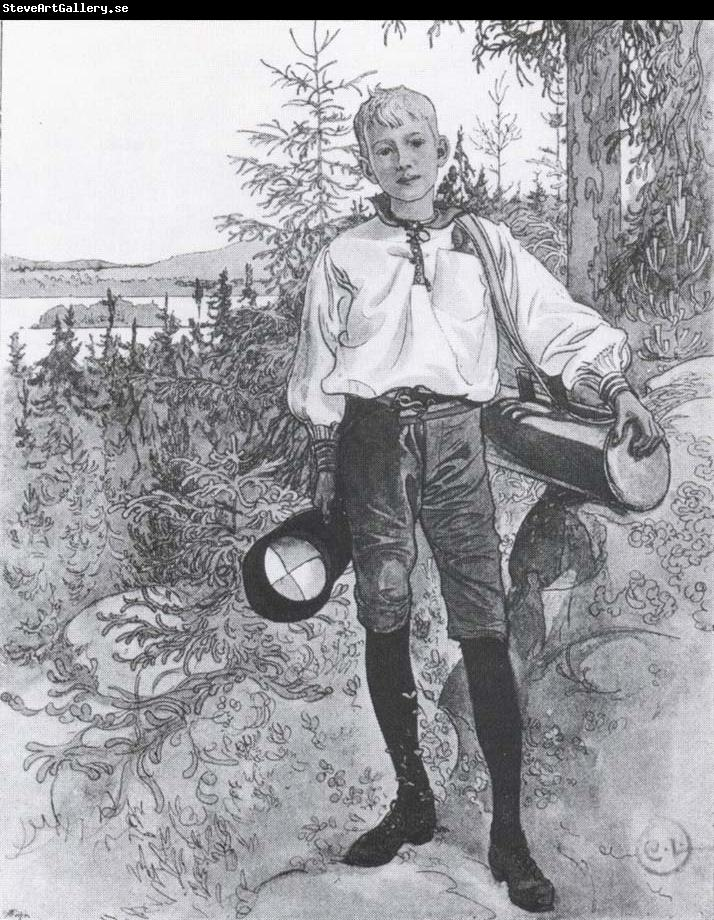 Carl Larsson To a little Boy