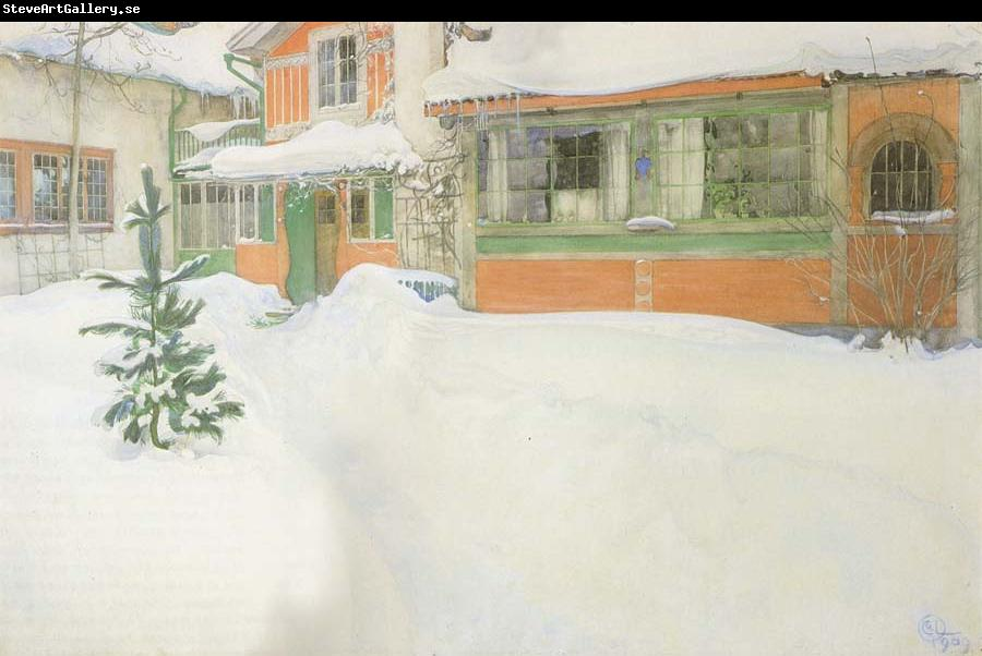 Carl Larsson THe Cottage in the Snow