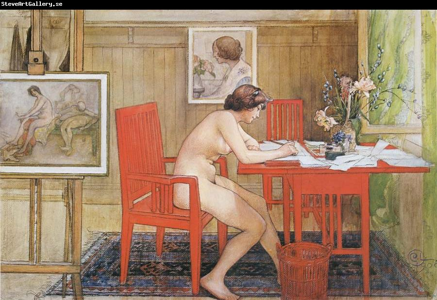 Carl Larsson Model,Writing picture-Postals