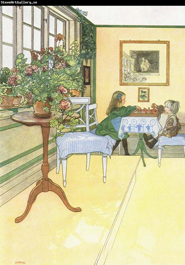 Carl Larsson The Chess Game