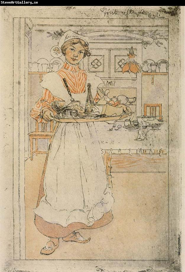 Carl Larsson Martina and the Breakfast Tray