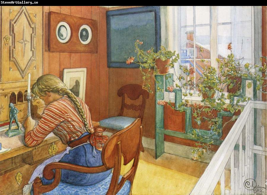 Carl Larsson Writing Letters