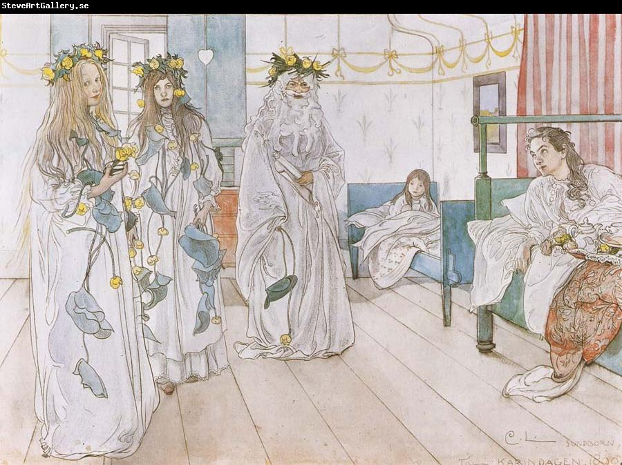 Carl Larsson For Karin-s Name-Day