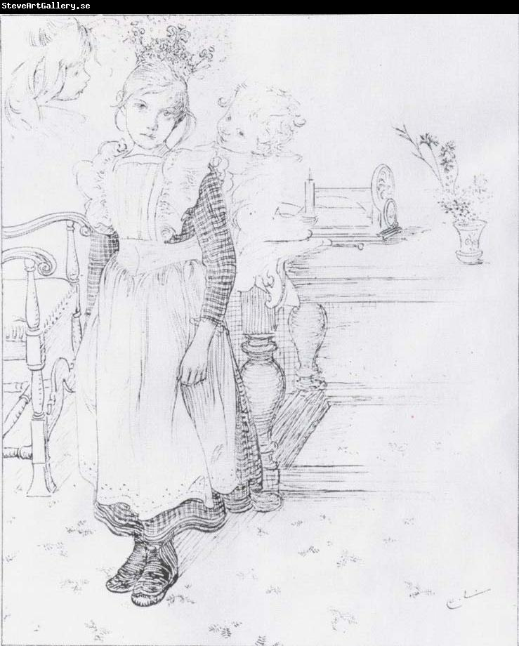 Carl Larsson Gir,Boy and Study of a Head