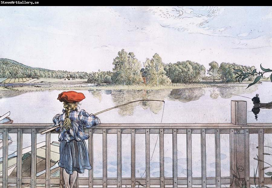 Carl Larsson Fishing