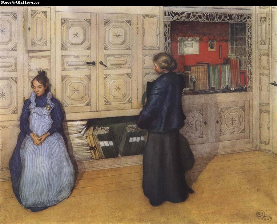 Carl Larsson Mother and Daughter