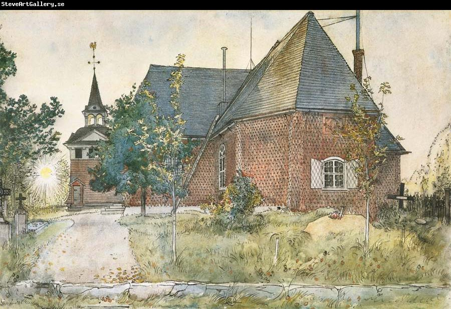 Carl Larsson The Old Church at Sundborn