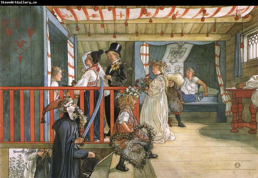 Carl Larsson Name Day at the Storage Shed