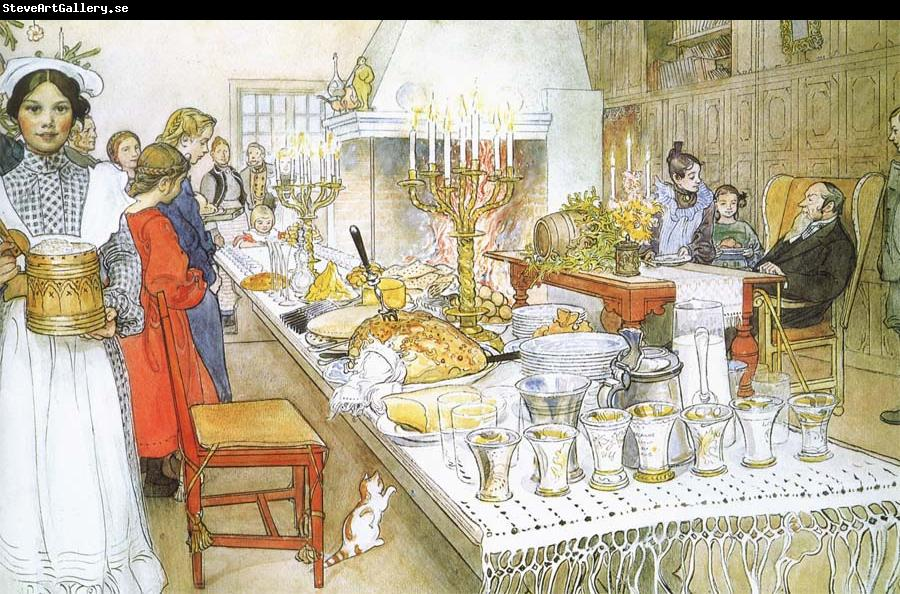 Carl Larsson Christmas Eve Banquet