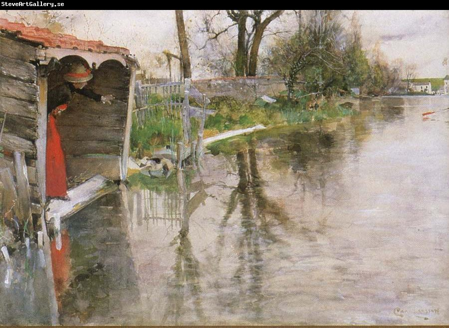 Carl Larsson By the River Loing