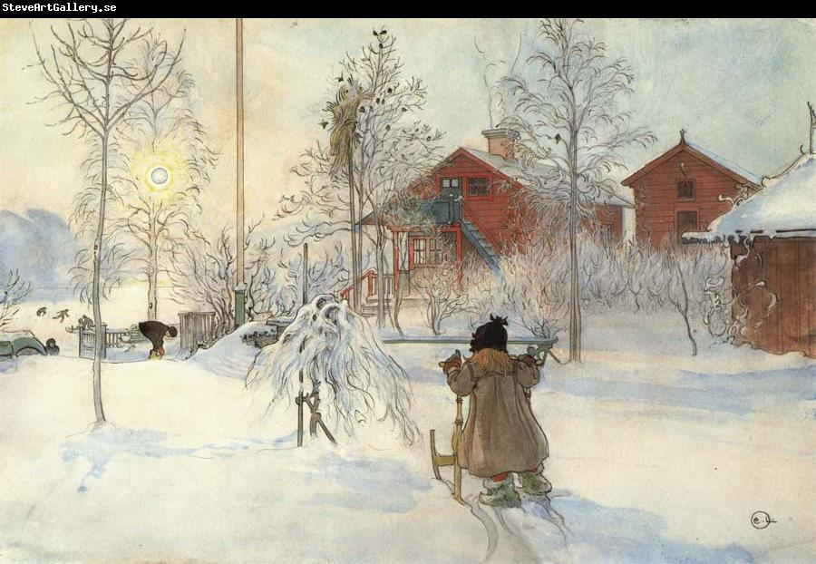 Carl Larsson The Front Yard and the Wash House