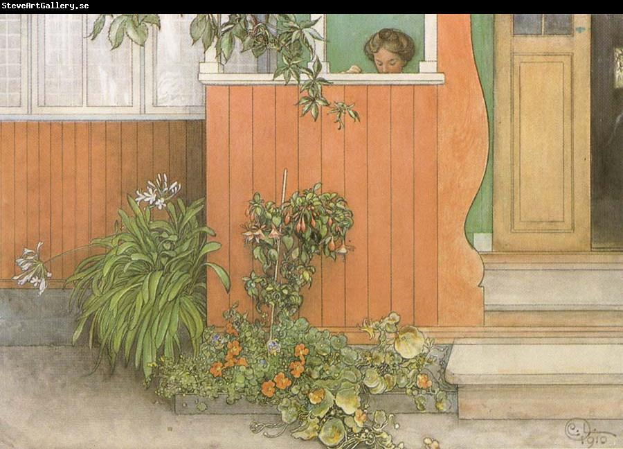 Carl Larsson Suzanne on the Front Stoop