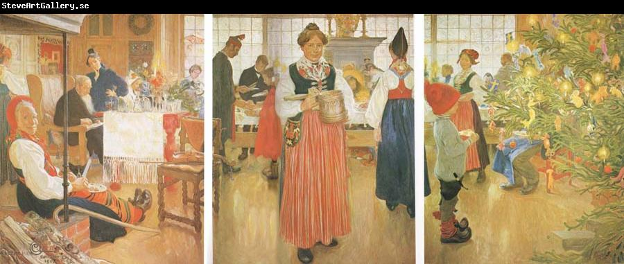 Carl Larsson Now it-s Christmas Again