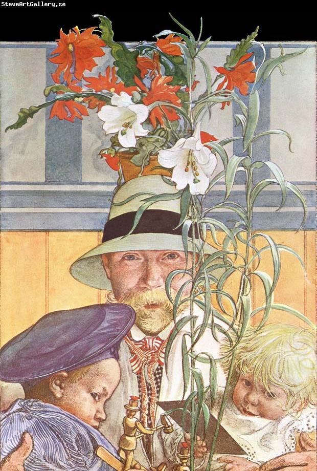 Carl Larsson Frontispiece for Andras Barn