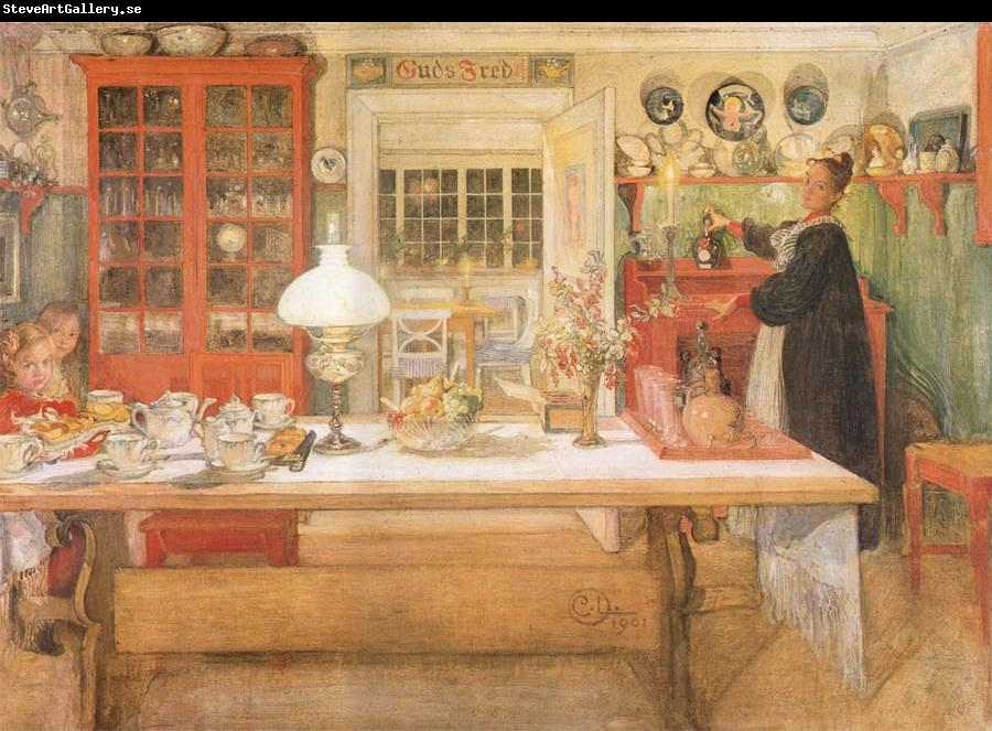 Carl Larsson Just a Sip