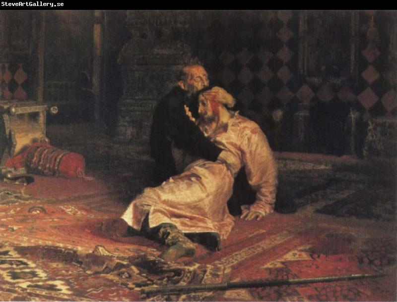 Ilya Repin Ivan the Terrible and his son ivan on 15 November 1581 1885