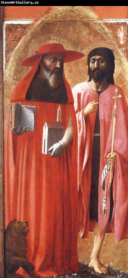 MASACCIO Saints Jerome and john the Baptist